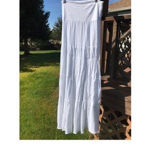 Longtime Sun White maxi dress convertible skirt